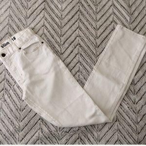 NWT J Crew Boys' slim jean in white wash 16
